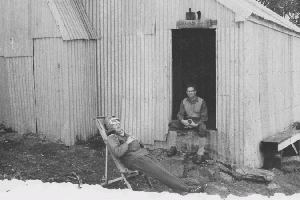 Mawsons Hut John Hogan & Ken May 1966 Reet Vallack Collection