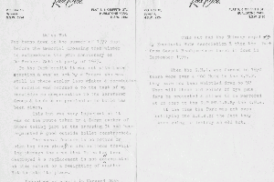 Rex Cox letter protesting destruction of Moulds Hut 1978 Reet Vallack Collection