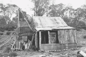 Four Mile Hut front Mayfield and Allen 1978 Reet Vallack Collection