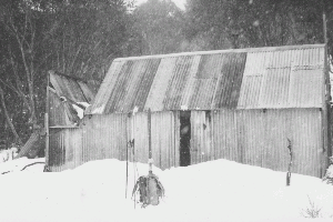 Horse Camp Hut snow 1970?s Reet Vallack Collection