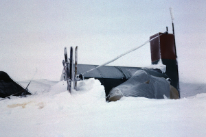 The Survival Hut, erected after the destruction of the main hut - © Reet Vallack, 1984
