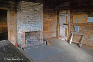 Cooinbil internal fireplace, after KHA treatment, photo P. Kneen 2015
