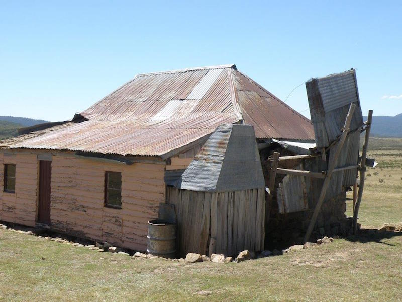 Photo of wind damage to roof of Old Currango Homestead 11th february 2017