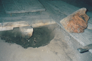 Rotten stump and floor bearer, Unknown 2000.